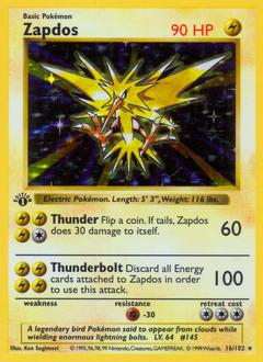 Zapdos card for Base Set