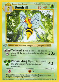 Beedrill card for Base Set
