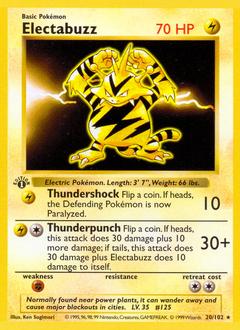 Electabuzz card for Base Set