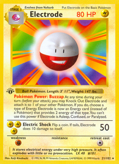 Electrode card for Base Set