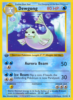 Dewgong card for Base Set