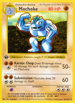 Machoke card for Base Set