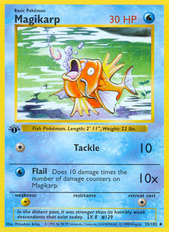 Magikarp card for Base Set