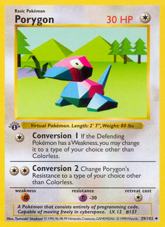Porygon card for Base Set