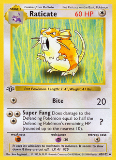 Raticate card for Base Set