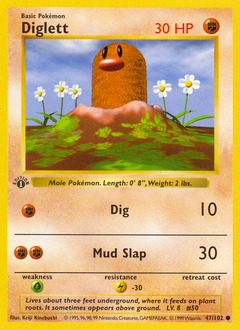 Diglett card for Base Set