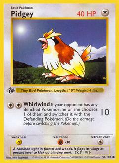 Pidgey card for Base Set