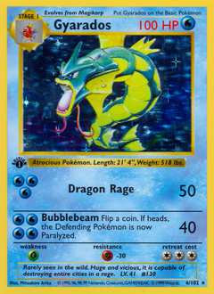 Gyarados card for Base Set