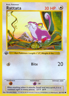 Rattata card for Base Set