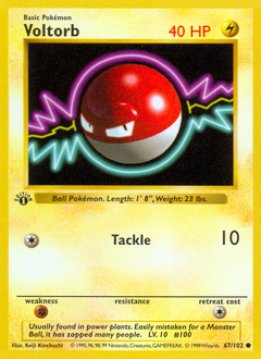 Voltorb card for Base Set