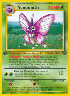 Venomoth card for Jungle
