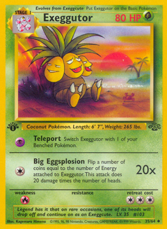 Exeggutor card for Jungle