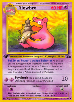 Slowbro card for Fossil