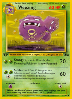 Weezing card for Fossil
