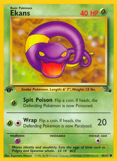 Ekans card for Fossil