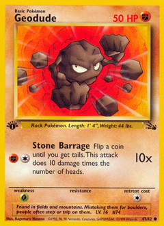 Geodude card for Fossil