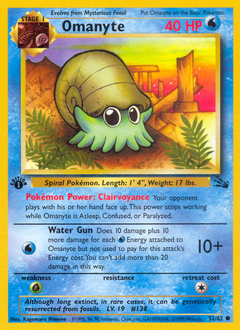Omanyte card for Fossil