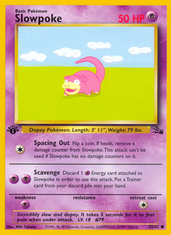 Slowpoke card for Fossil