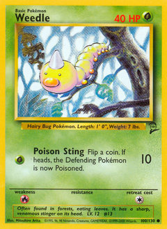 Weedle card for Base Set 2