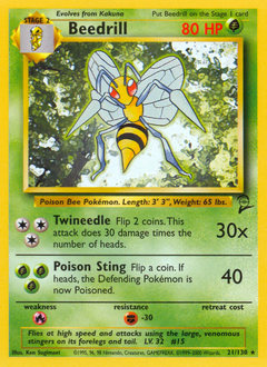 Beedrill card for Base Set 2