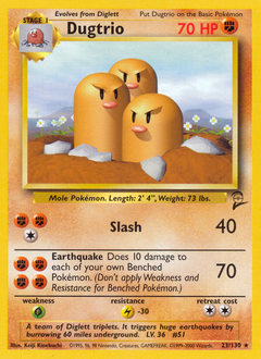 Dugtrio card for Base Set 2