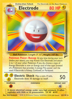 Electrode card for Base Set 2