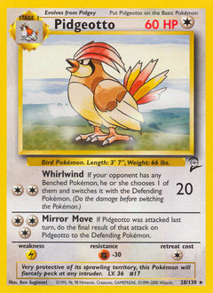 Pidgeotto card for Base Set 2