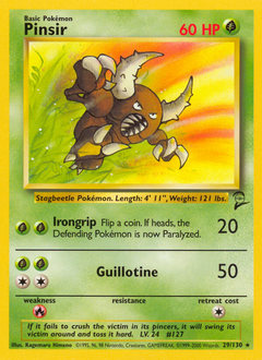 Pinsir card for Base Set 2