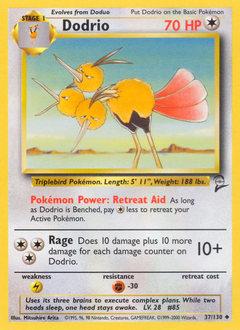 Dodrio card for Base Set 2