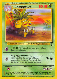Exeggutor card for Base Set 2