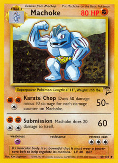 Machoke card for Base Set 2