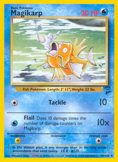 Magikarp card for Base Set 2