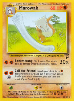 Marowak card for Base Set 2
