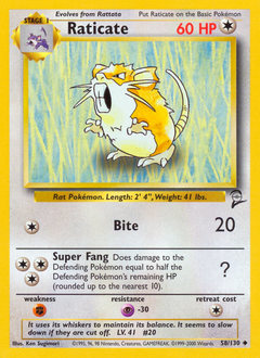 Raticate card for Base Set 2