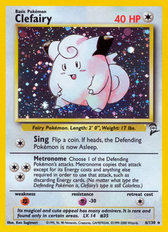 Clefairy card for Base Set 2