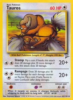 Tauros card for Base Set 2