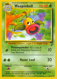 Weepinbell card for Base Set 2