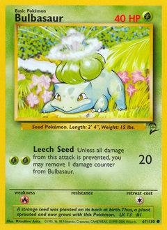 Bulbasaur card for Base Set 2