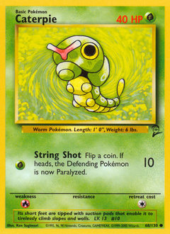 Caterpie card for Base Set 2