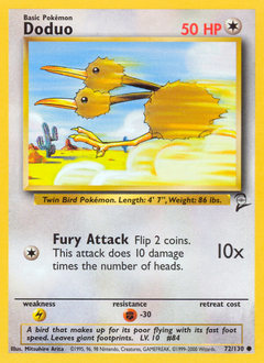 Doduo card for Base Set 2