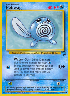Poliwag card for Base Set 2
