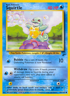 Squirtle card for Base Set 2
