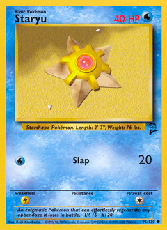 Staryu card for Base Set 2