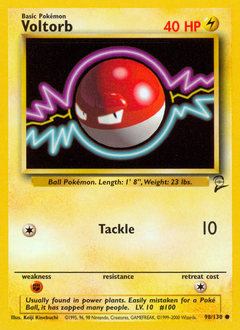 Voltorb card for Base Set 2