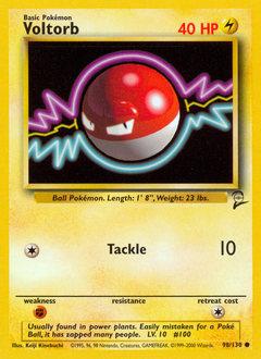 Voltorb card for Base Set 2