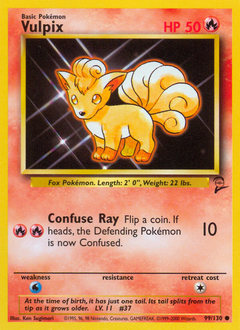 Vulpix card for Base Set 2