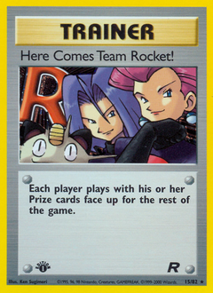 Here Comes Team Rocket! card for Team Rocket