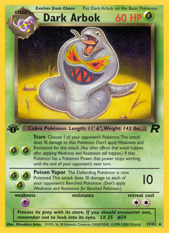 Dark Arbok card for Team Rocket