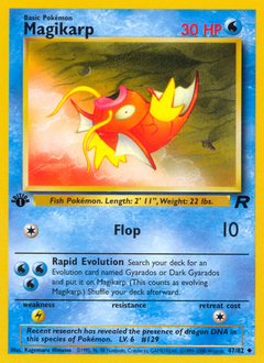Magikarp card for Team Rocket