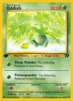 Oddish card for Team Rocket